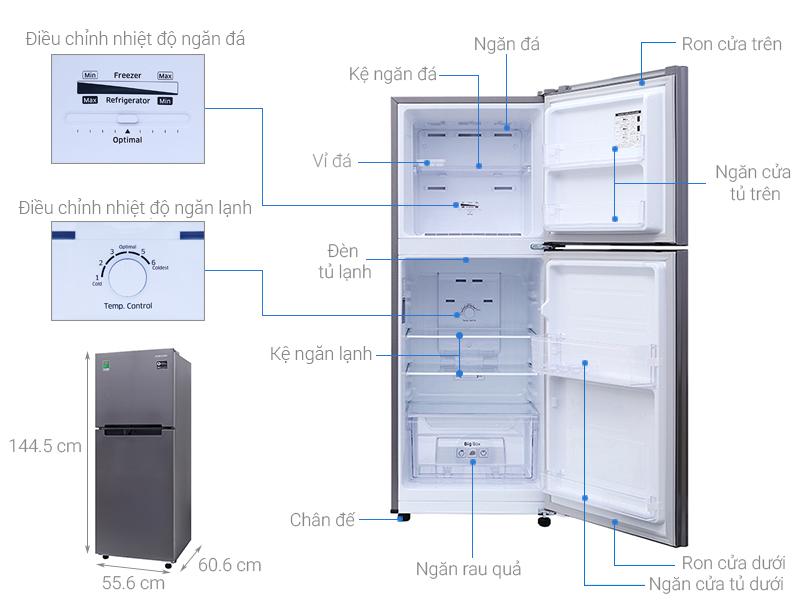 Kích Thước Tủ Lạnh 2 Cánh, 1 Cánh, 4 Cánh Side By Side, Thường