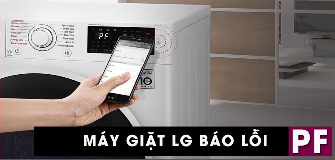 Máy giặt LG báo lỗi PF