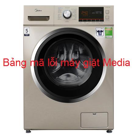 Bảng mã lỗi máy giặt Midea  cửa trên, cửa ngang Inverter chính xác 100%