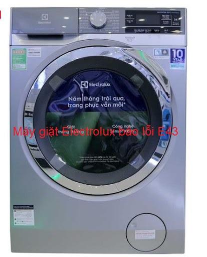 [Máy giặt Electrolux báo lỗi E43] Cách xử lý tại nhà từ A - Z