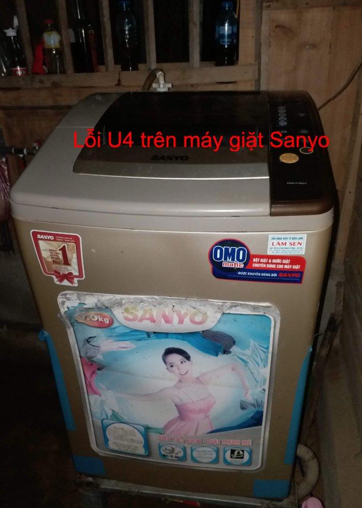 Máy giặt Sanyo báo lỗi U4: Nguyên nhân và cách sửa tại nhà
