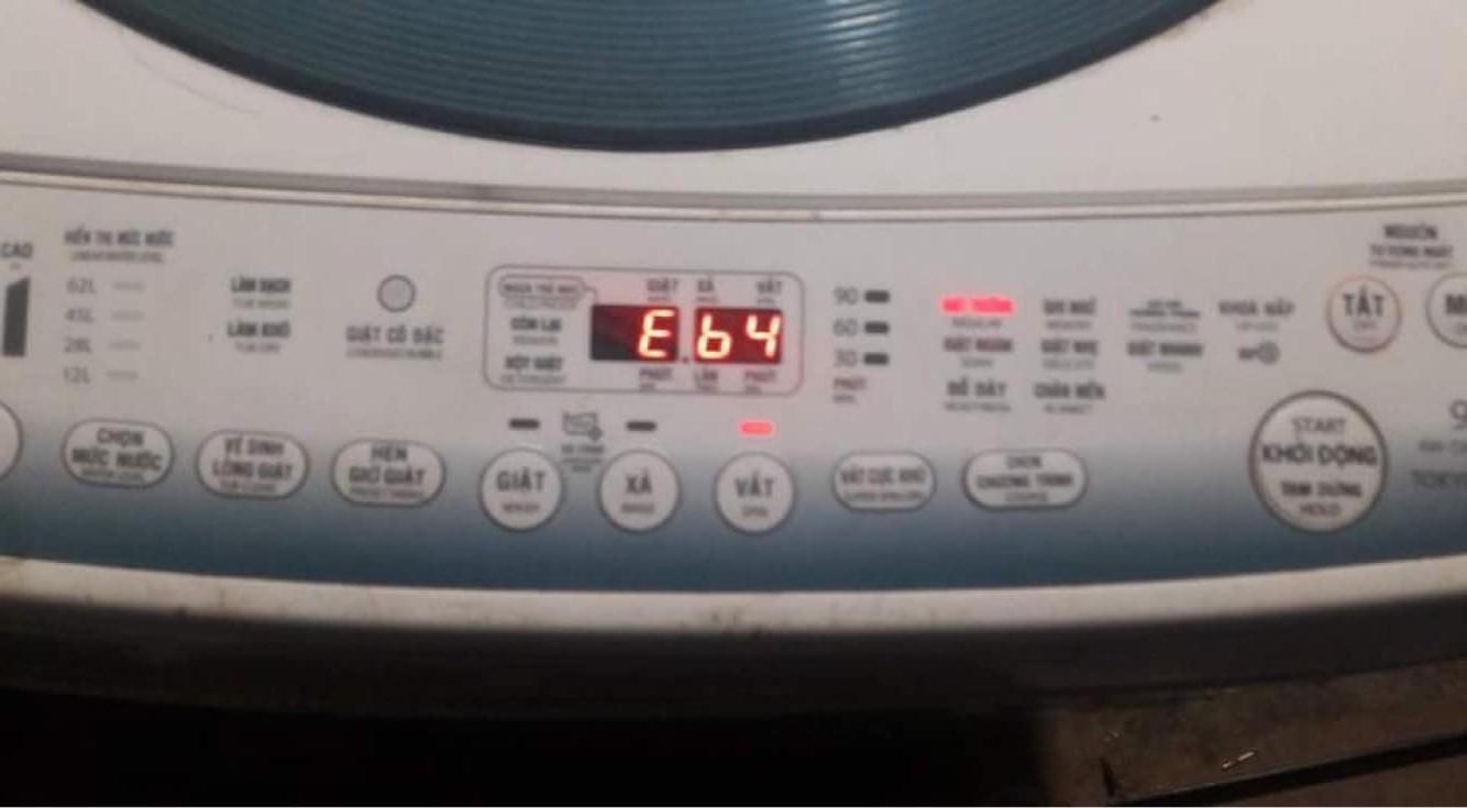 Cách khắc phục máy giặt Toshiba báo lỗi E64 ( Eb4 ) từ A - Z