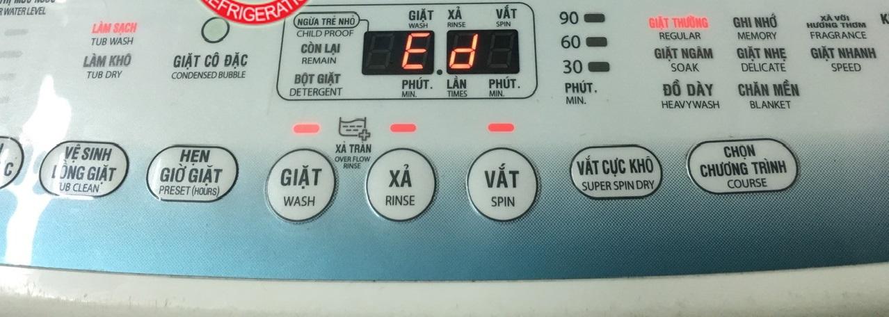 [Máy giặt Toshiba báo lỗi Ed] Nguyên nhân và cách sửa tại nhà