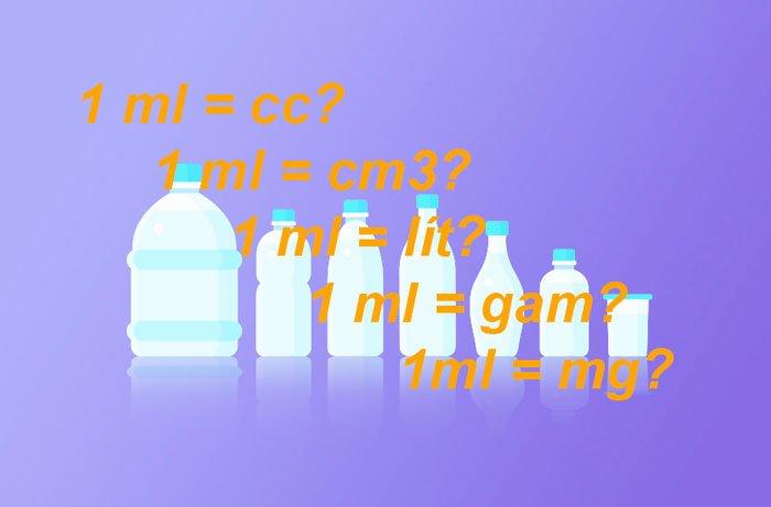 1 CC bằng bao nhiêu lít, ml, gam, mg, Cm3, m3? Chính xác 100%
