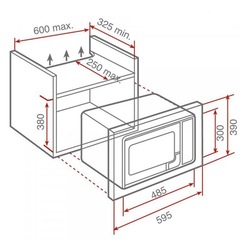 Lò vi sóng âm tủ Teka ML 820 BI