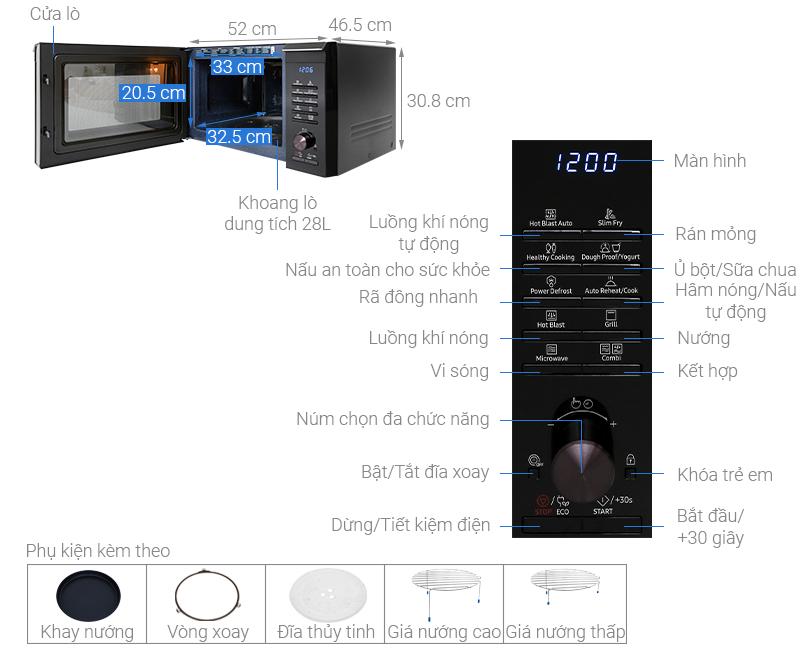 Lò vi sóng Samsung MC28M6035CKSV-N 28 lít