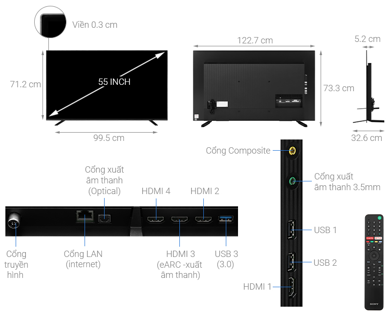 OLED Tivi 4k Sony 55 inch 55A8H Android TV