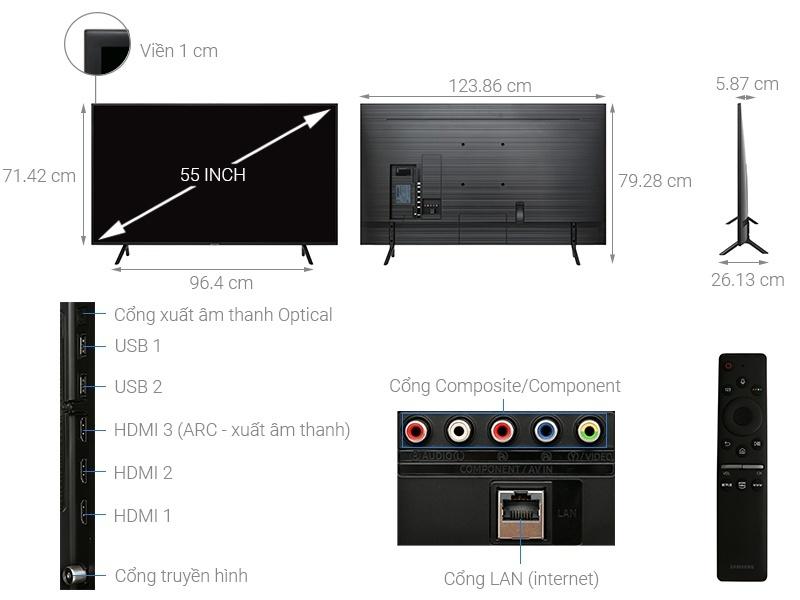 Smart Tivi QLED Samsung 4K 55 inch QA55Q75RAKXXV