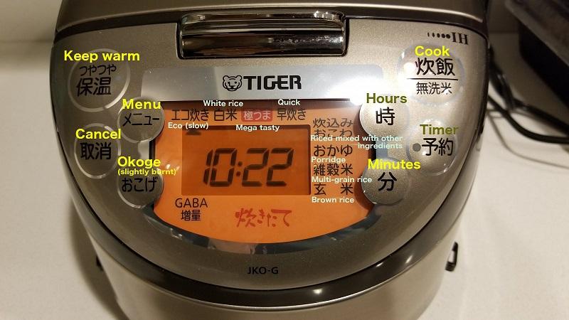 Cách sử dụng nồi cơm điện Tiger