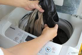 cách giặt áo da bằng máy giặt