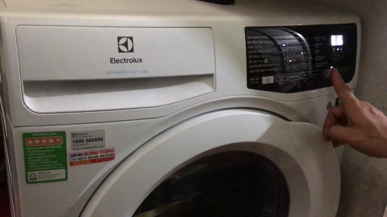 cách tắt chế độ khóa trẻ em máy giặt electrolux