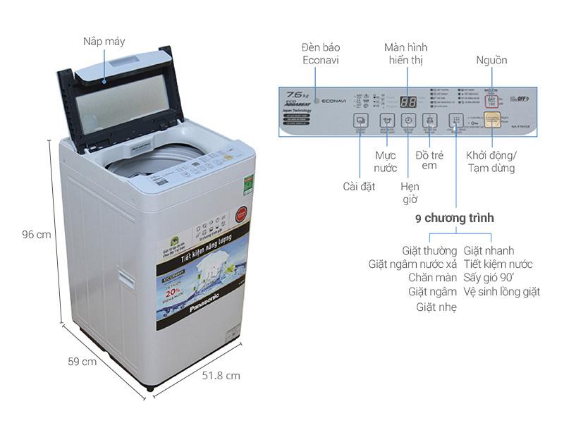 Kích thước máy giặt cửa trên, cửa ngang Electrolux, Samsung, Toshiba