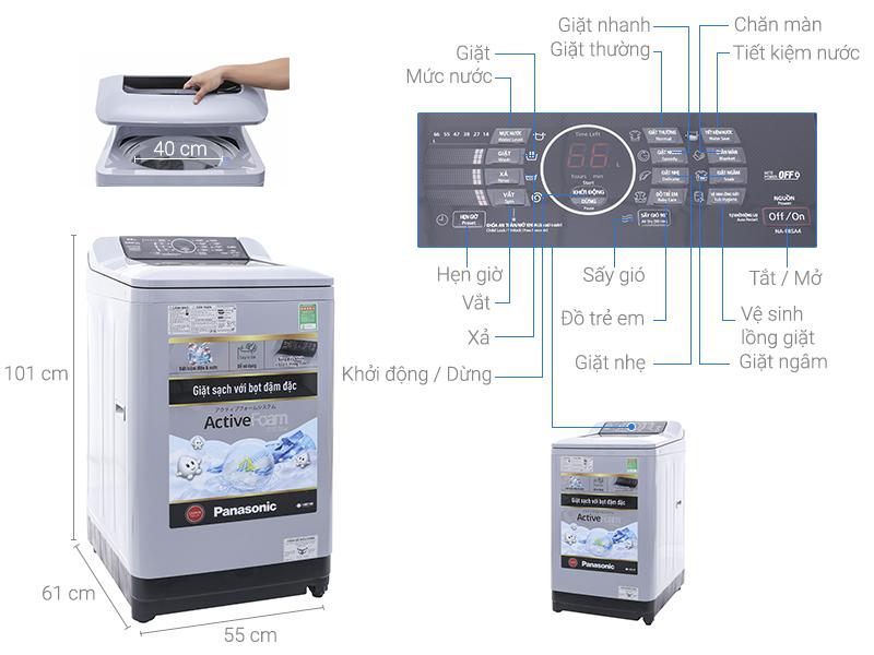 Kích thước máy giặt cửa trên Panasonic1