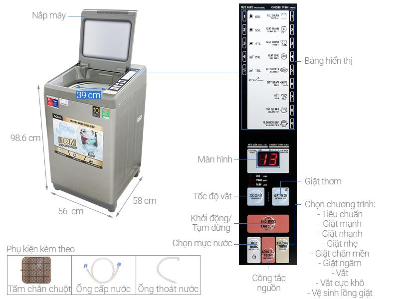 Kích thước máy giặt cửa trên Panasonic2