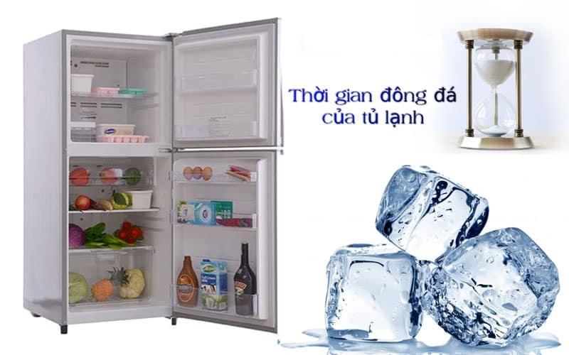 tủ lạnh chạy bao lâu thì đông đá