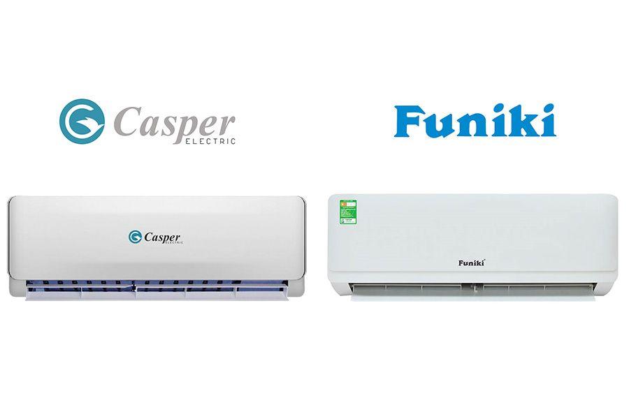 So sánh điều hòa Casper và Funiki loại nào tốt hơn? Nên mua hãng nào?
