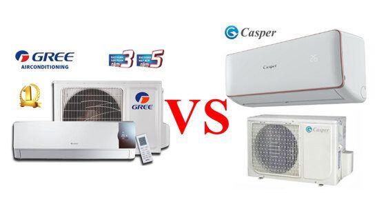 So sánh điều hòa Gree và Casper loại nào tốt hơn? Điện máy Sharp VN