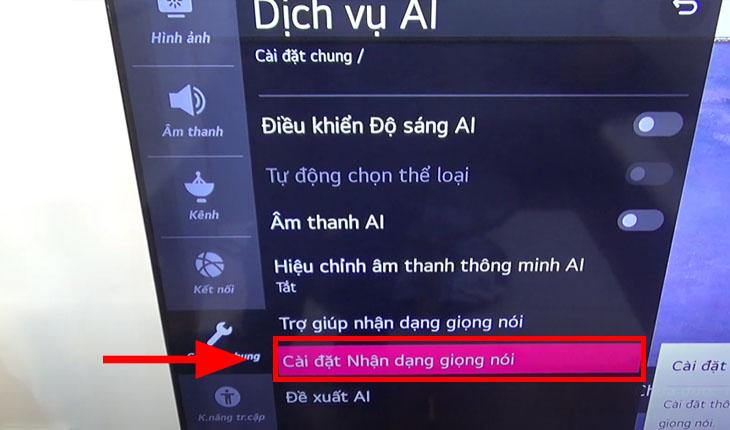 Các bước tắt tìm kiếm bằng giọng nói trên tivi LG3