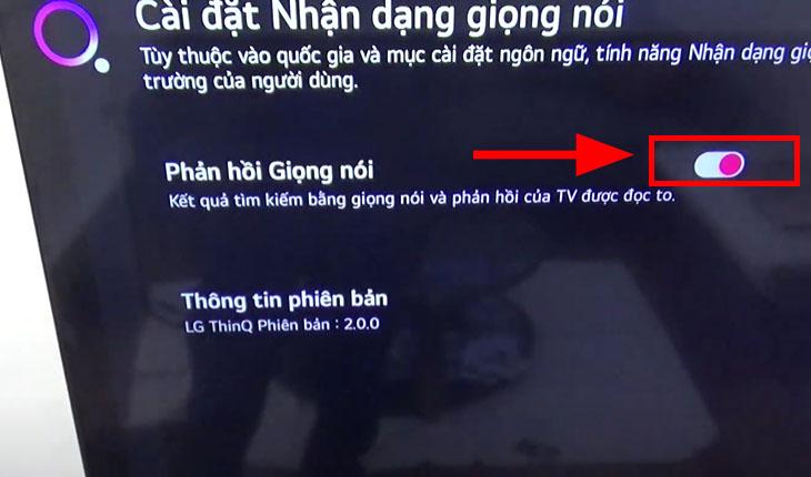Các bước tắt tìm kiếm bằng giọng nói trên tivi LG