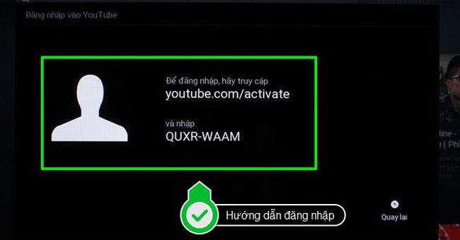 Cách đăng nhập tài khoản YouTube trên tivi Samsung3