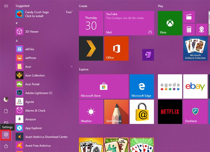 Cách gỡ phần mềm trên Win 10 từ menu Settings