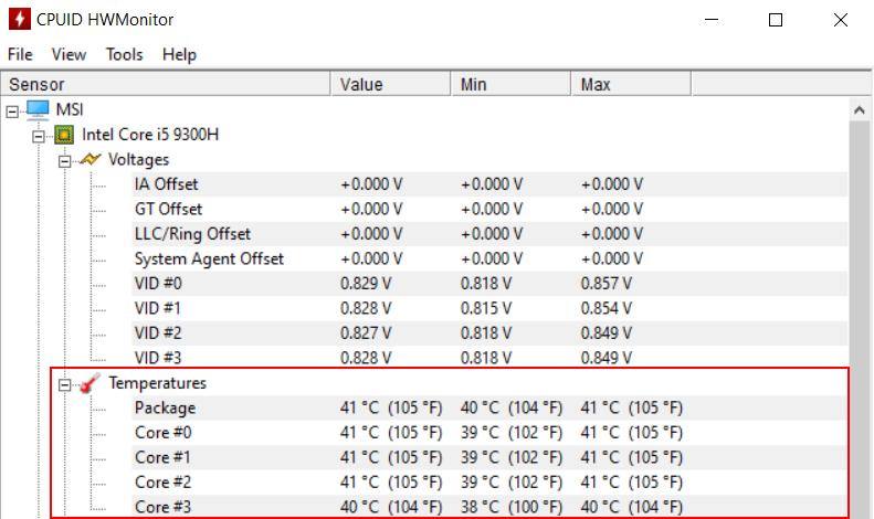 Cách kiểm tra nhiệt độ CPU bằng HWMonitor2