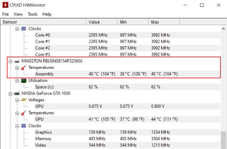 Cách kiểm tra nhiệt độ CPU bằng HWMonitor3
