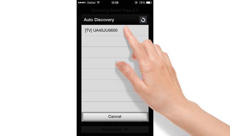Cách mở tivi Samsung bằng điện thoại2