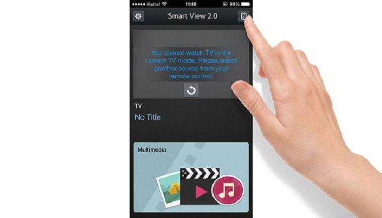Cách mở tivi Samsung bằng điện thoại4