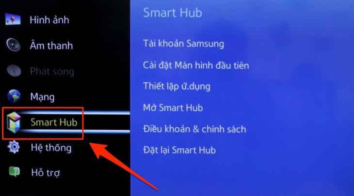 Tivi Samsung không vào được Youtube1