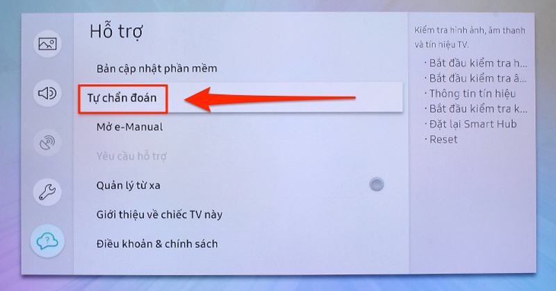 Tivi Samsung không vào được Youtube13