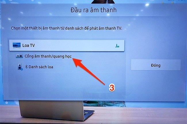 cách kết nối tivi Samsung với Amply qua dây cáp4