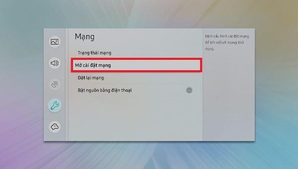 cách kết nối wifi cho tivi samsung3