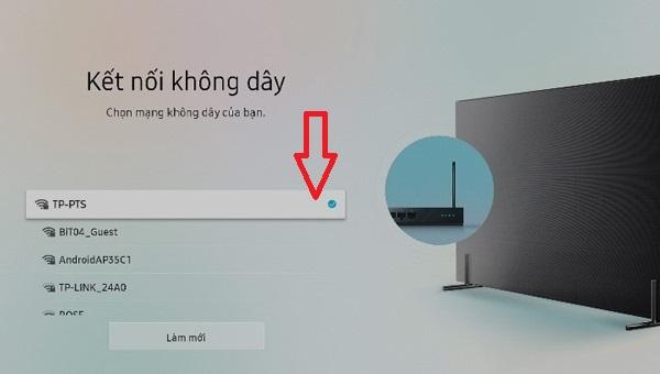 cách kết nối wifi cho tivi samsung5