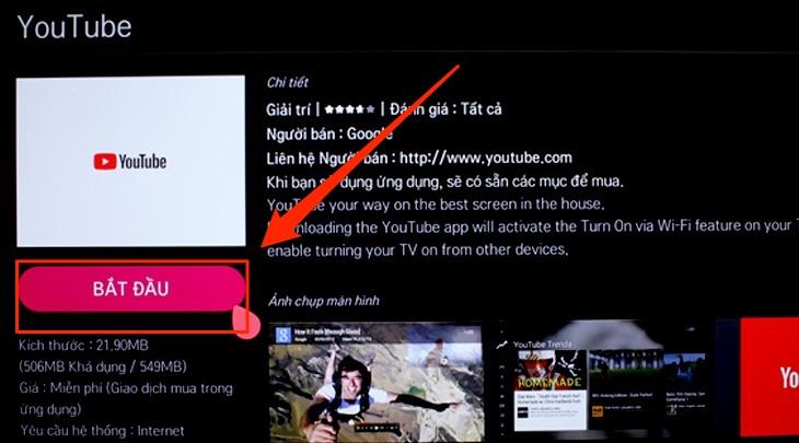 cách khắc phục tivi lg không vào được youtube12