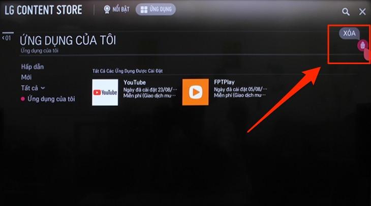 cách khắc phục tivi lg không vào được youtube4