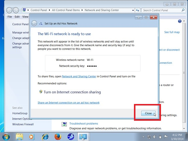 cách phát wifi từ laptop Win 76