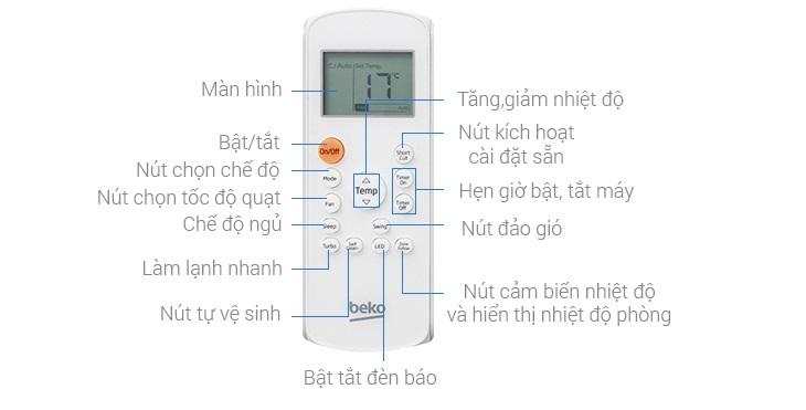 Cách sử dụng điều khiển điều hòa Beko đúng cách