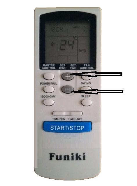 cách sử dụng điều khiển điều hòa funiki1