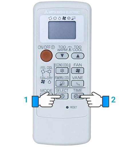 cách sử dụng điều khiển điều hòa mitsubishi electric