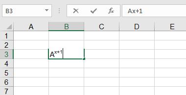 cách viết số mũ trên Excel2