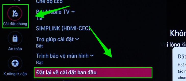 tivi lg không vào được youtube1