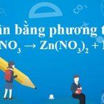 Zn + HNO3 → Zn(NO3)2 + NO + H2O [Cân bằng phương trình phản ứng]