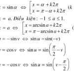 Phương trình lượng giác cơ bản và các dạng bài tập có lời giải từ A - Z