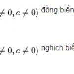 Tìm m để hàm số đồng biến, nghịch biến trên khoảng chính xác 100%